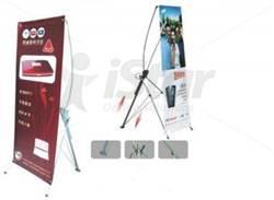 Standee X kiểu Hàn Quốc đen 0.8x1.8m